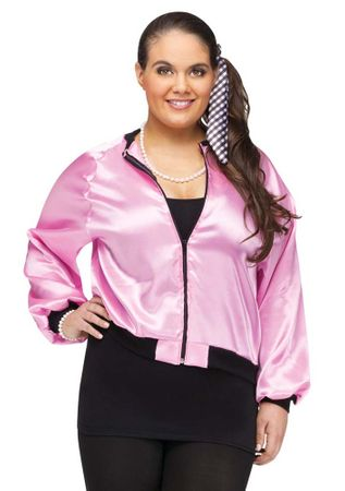 Plus Size Pink 50's Ladies Jacket