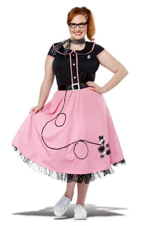Plus Size Pink 50's Sweetheart Costume