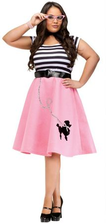 Plus Size Pink Poodle Dress Costume