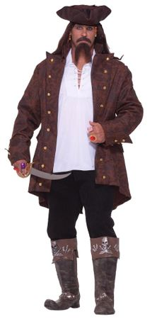 Plus Size Pirate Captain XXXL Costume
