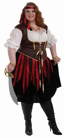 Plus Size Pirate Lady XXXL Costume
