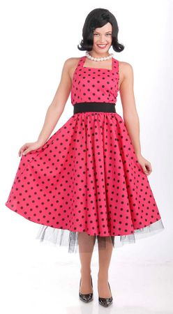 Plus Size Pretty in Polka Dots 50s Costume