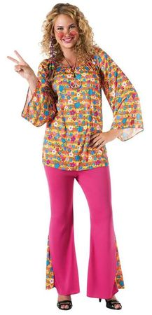 Plus Size Psychedelic Diva Costume