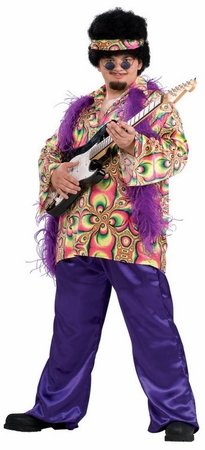 Plus Size Purple Haze Hippie 70's Costume