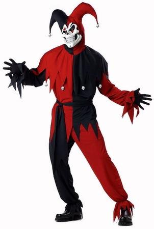 Plus Size Red/Black Evil Jester Costume