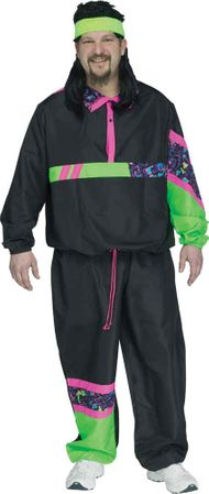 Plus Size Rockin' 80's Track Suit Costume