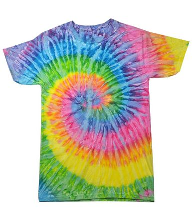 Plus Size Saturn Tie Dye Tee Shirt