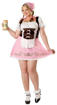 Plus Size Sexy Fetching Fraulein German Costume