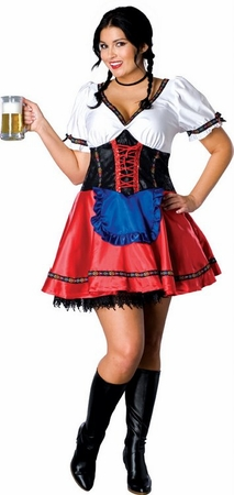 Plus Size Sexy German Beer Garden Girl Costume
