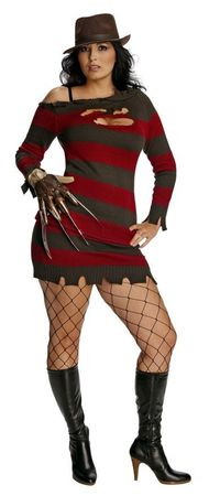 Plus Size Sexy Miss Krueger Costume