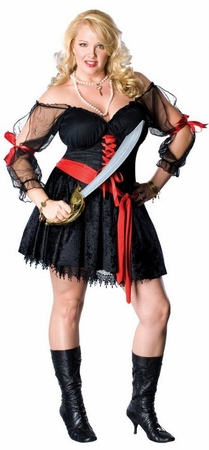 Plus Size Sexy Pirate Siren Costume