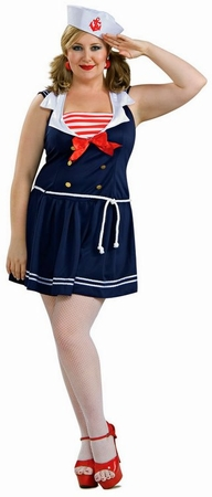 Plus Size Sexy Sailor Girl Costume