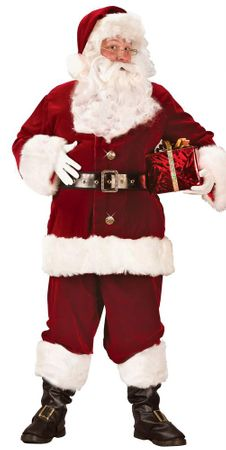 Plus Size Super Deluxe Santa Claus Suit
