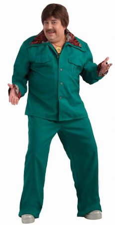 Plus Size Teal Leisure Suit Costume
