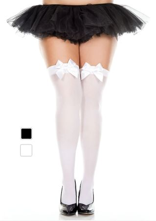 Plus Size Thigh High w/ Bow - More Colors