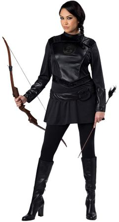 Plus Size Warrior Huntress Costume