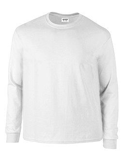 Plus Size White Long Sleeve Tee Shirt