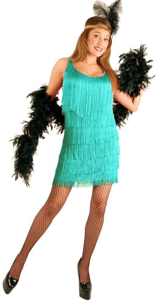 fresh styles pre order incredible prices Plus Size Women's Aqua Flapper Costume - Candy Apple Costumes
