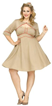 Plus Size Women's Army Gal Costume