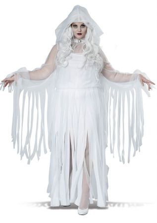 Plus Size Women's Ghostly Spirit Costume