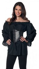 Plus Size Women's Long Sleeve White Renaissance Peasant Blouse - Candy Apple Costumes ...