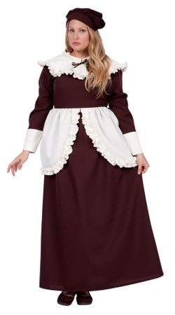 Plus Size Women's Colonial Lady Abigail Costume