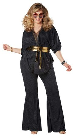 Plus Size Women's Disco Dazzler 70s Costume