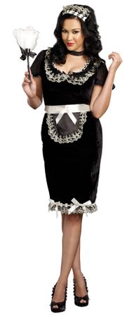 Plus Size Women's Keep It Clean French Maid Costume