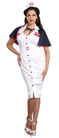 Plus Size Women's Night Nurse Costume