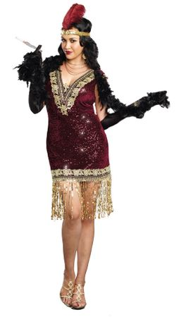 Plus Size Women's Sophisticated Lady Flapper Costume