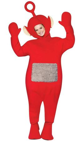 Po Adult Red Teletubbies Costume