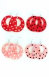 Polka Dot Earrings - Pink
