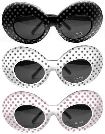 Polka Dot Oval Sunglasses - More Colors
