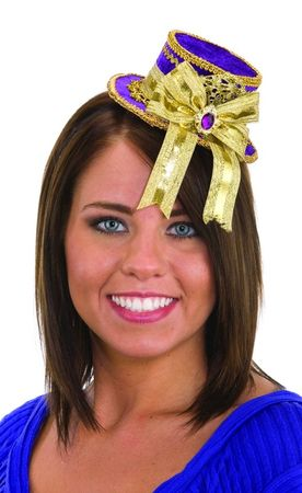 Purple/Gold Mini Top Hat Headband