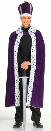 Purple King Robe and Crown Costume Set