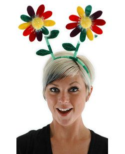 Rainbow Flower Bopper Headband