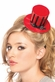 Red/Black Striped Mini Victorian Top Hat