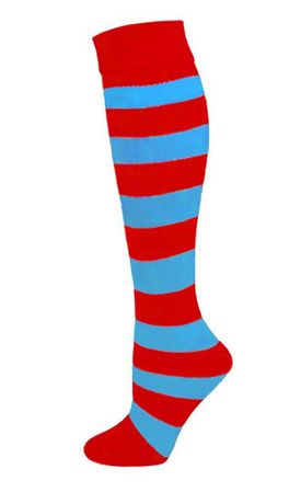 Red and Blue Striped Thing Knee Socks - Adult or Child