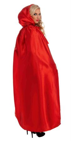 Red Fancy Masquerade Hooded Cape