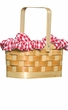 Red Gingham Basket Handbag