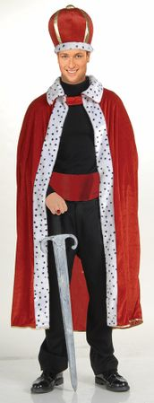 Red King Robe and Crown Costume Set