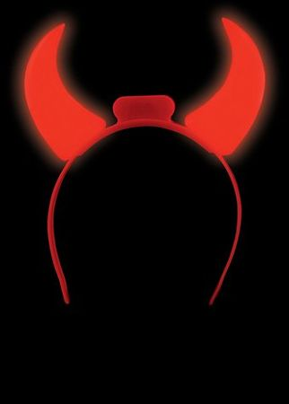 Red Light-Up Devil Horns Headband