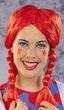 Red Pigtail Braids Wig