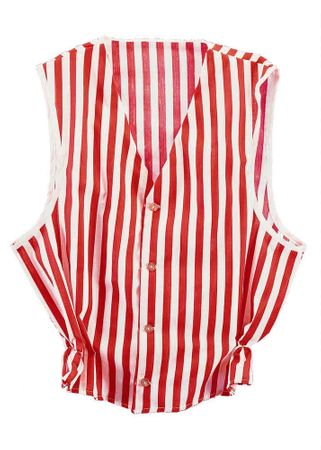 Adult Red/White Striped Vest