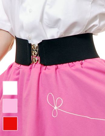 Adult Retro Elastic Cinch Belt