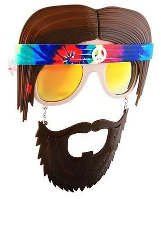 Retro Hippie Sun-Staches