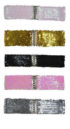 Retro Sequin Elastic Cinch Belt
