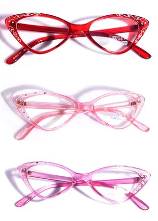 Retro Style 50's Twirl Cat Eye Glasses