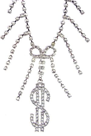 Rhinestone Gangster Girl Necklace