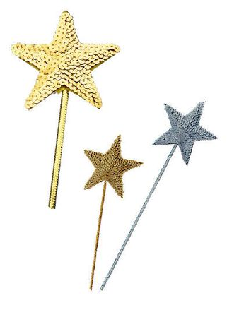 Sequin Star Wand - Gold or Silver